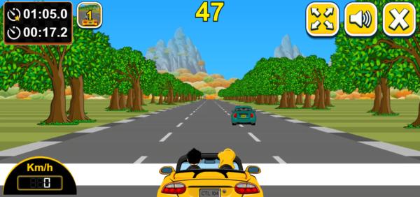 CAR RACING GAME ON SWIFTSPEED APPCREATOR