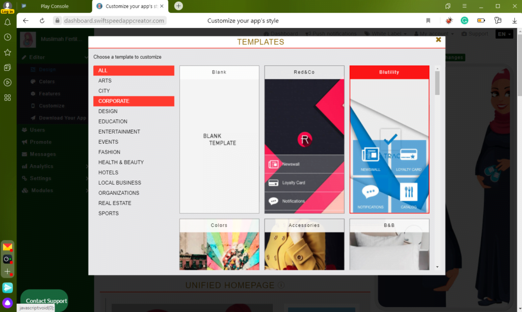 App Templates Swiftspeed Appcreator
